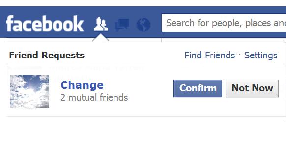 change friend request