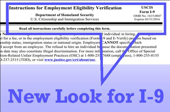 I-9 employment eligibility form
