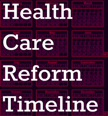 health care reform timeline for employers