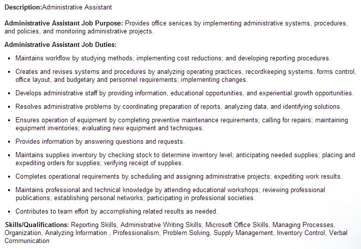 boring job description