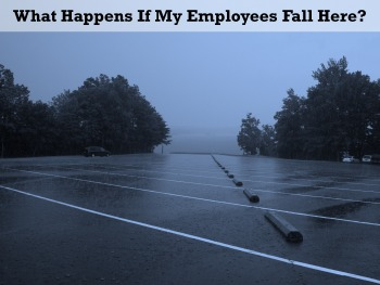 does work comp cover parking lot falls