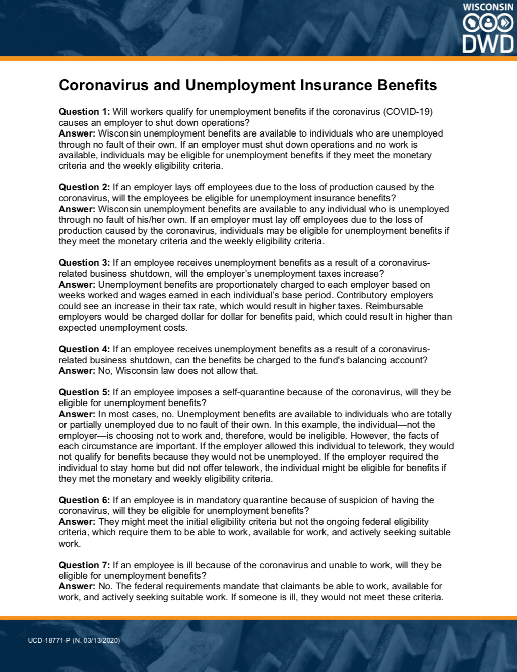 Coronavirus & Unemployment
