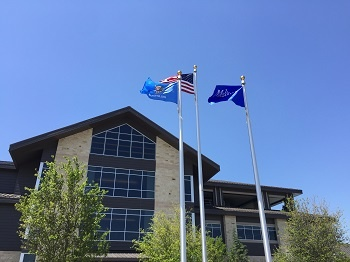 Exterior_with_flags_Melton